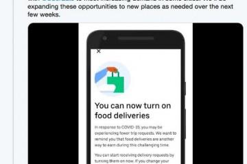 疫情迸发优步鼓舞美国司机展开送餐服务