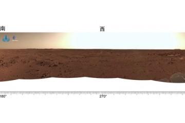 天问一号任务着陆和巡视探测系列实拍影像发布